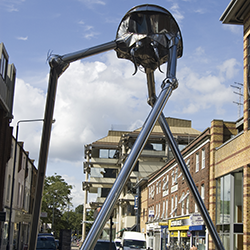 Martian sculpture in Woking [square]