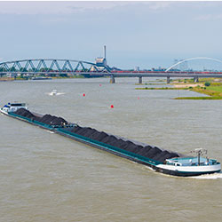 Barge carrying coal [square]