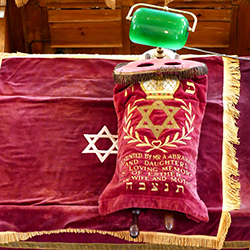 Torah in Plymouth Synagogue [square]