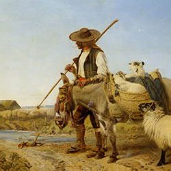 Richard Andsell, A Spanish Shepherd [square]