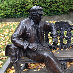 Spike Milligan memorial bench [square]